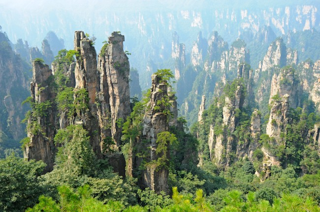The Zhangjiajie National Forest Park is the best place to visit in China